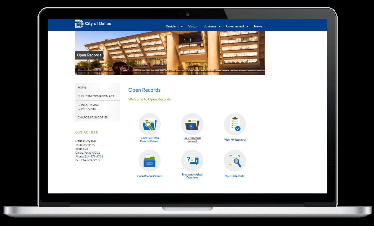 Dallas, TX Public Records Portal