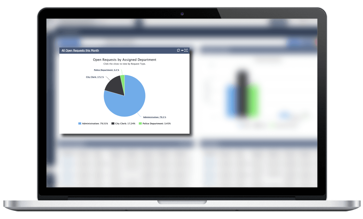 govqa correspondence management solution reports analytics on macbook pro