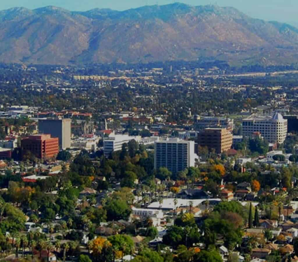 Aerial View Riverside California