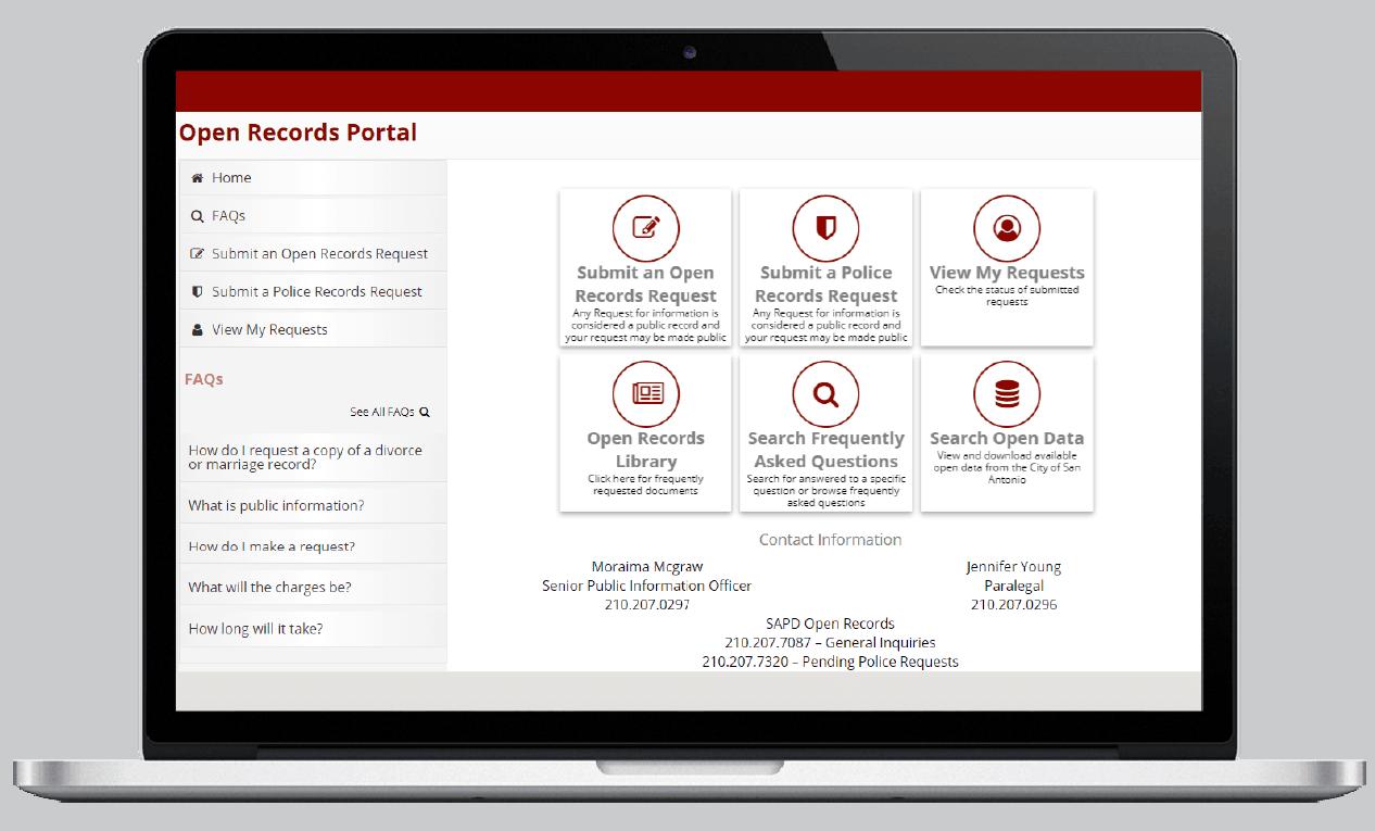 San Antonio, TX Public Records Portal