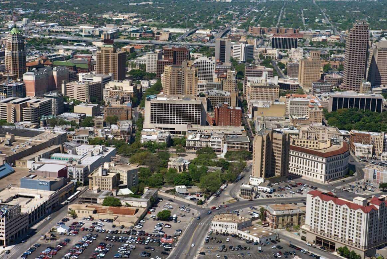 Aerial View of San Antonio, TX
