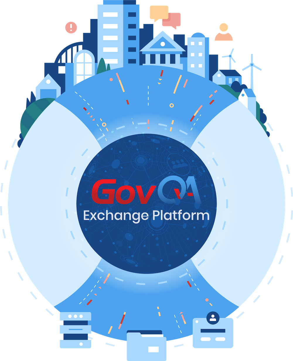 GovQA Exchange platform illustration