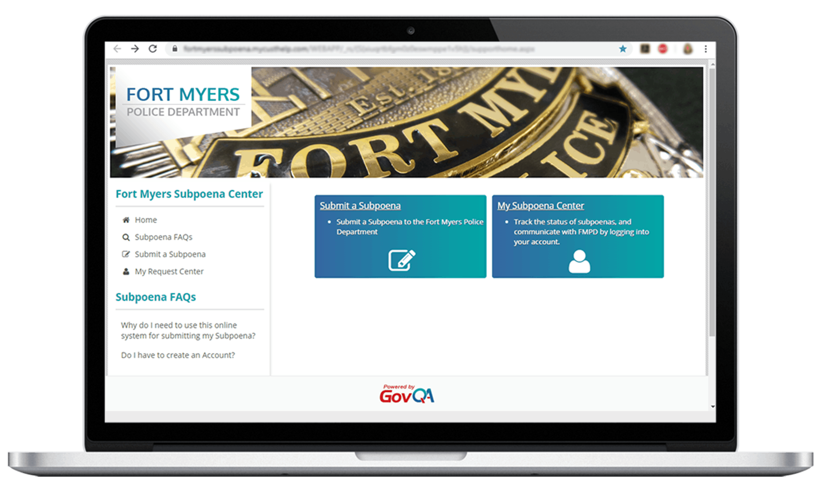 govqa subpoena request management comprehensive portal on macbook pro