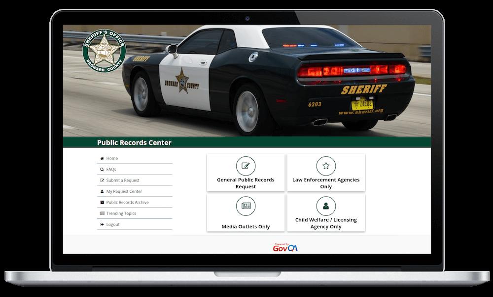 Broward County Sheriff Public Portal screenshot