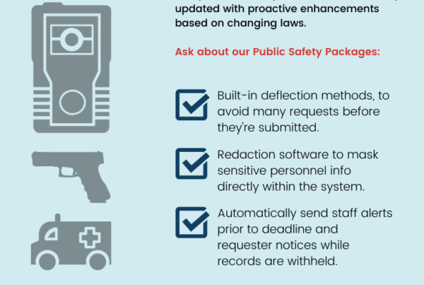 Law Enforcement Public Records Compliance Solution Infographic